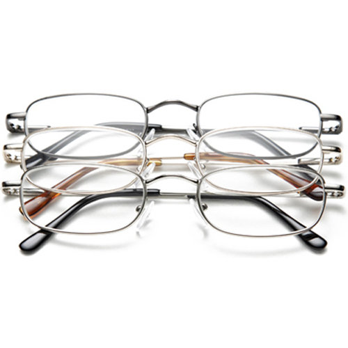 OPTX2020 Reading Glasses,+1.25,Clear,PK3 3PK+125M