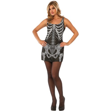 Women's Day Of The Dead Skeleton X-Ray Tank Dress Costume