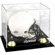 Los Angeles Chargers Golden Classic Team Logo Mini Helmet Display Case