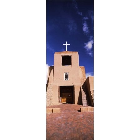 Facade of a church San Miguel Mission Santa Fe New Mexico USA Canvas Art - Panoramic Images (18 x - Miguel Torres Santa