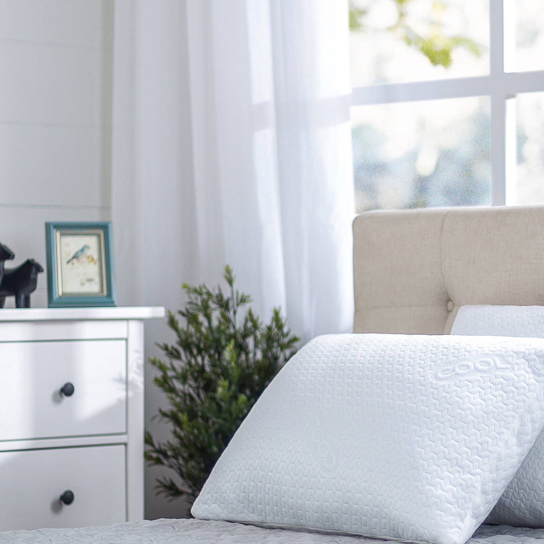 Spa Sensations Memory Foam Cool Pillow, White