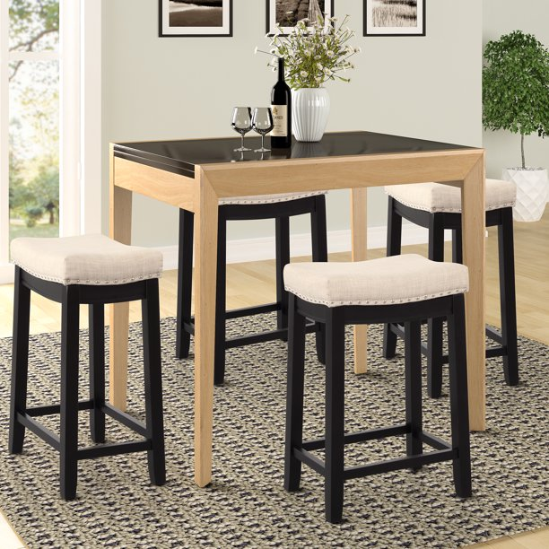 """bar stools set of 2 24"""" counter height bar stools with"""