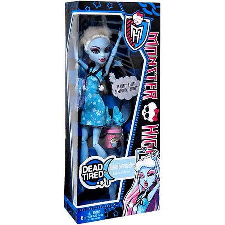 Monster High Dead Tired Abbey Bominable 10.5