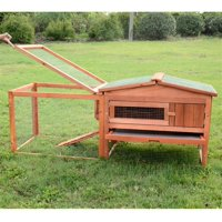 "64"" Outdoor Guinea Pig Pet House/Rabbit Hutch Habitat with Run"