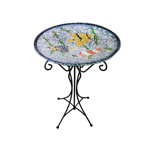 Gardener Select Mosaic Birdbath & Stand by Gardener Select