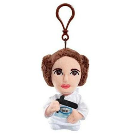 Star Wars Mini 4   Talking Plush Princess Leia Clip On