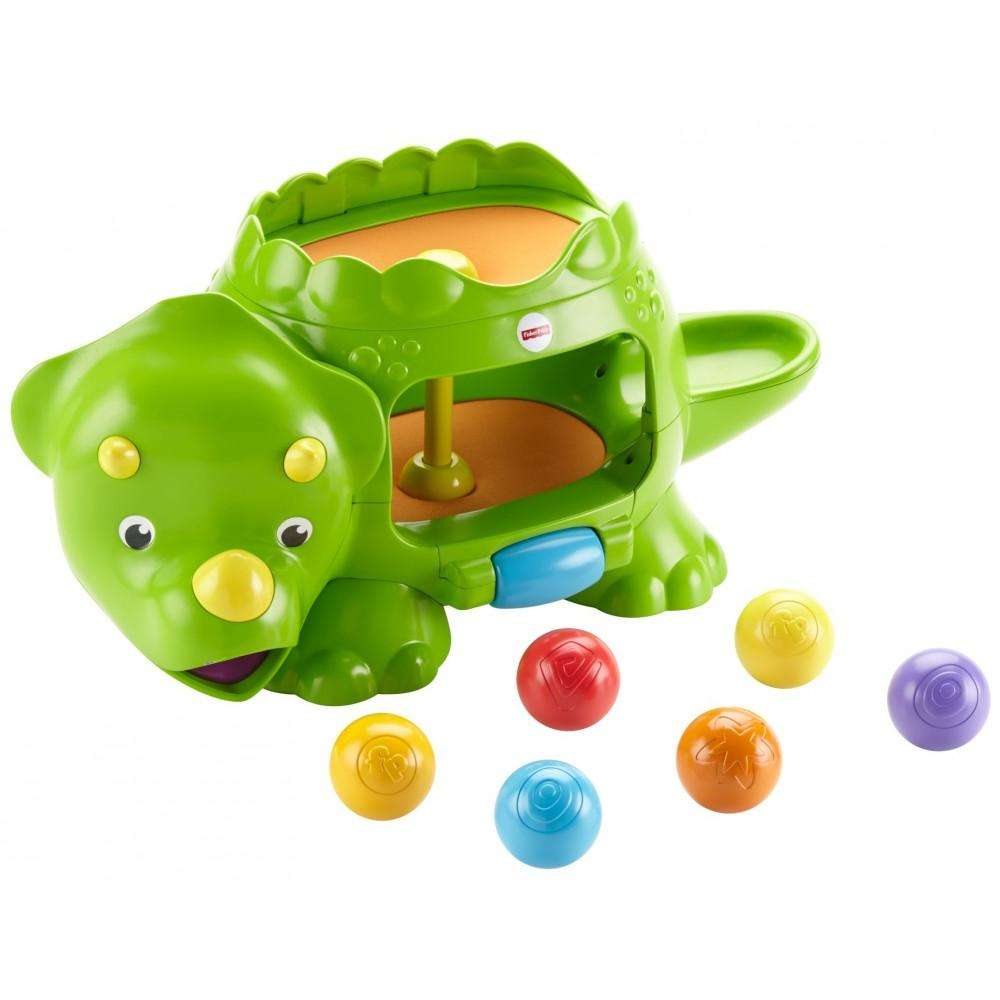 Fisher Price Double Poppin' Dino with Silly Sounds & Music by Fisher-Price