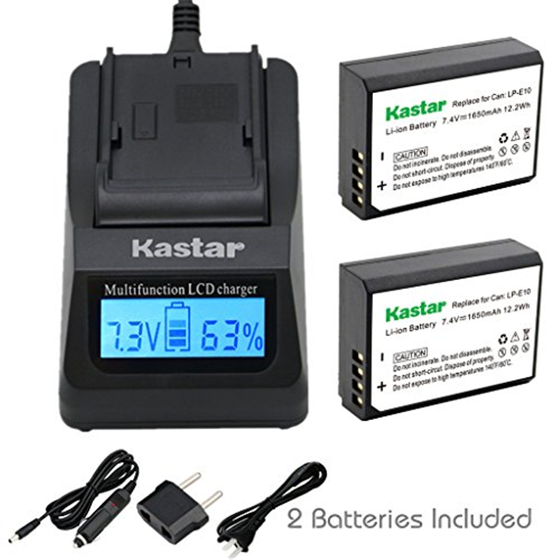 Kastar Ultra Fast Charger(3X faster) Kit and Battery (2-P...