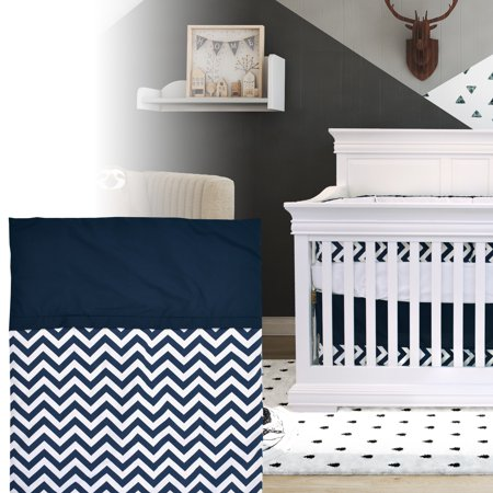 Bebelelo - 5 pieces bedding for baby – navy blue and white with a Zigzag pattern - image 9 de 9