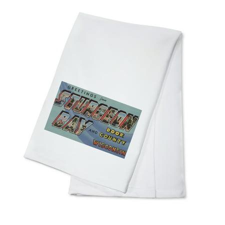 Sturgeon Bay Wisconsin (Sturgeon Bay, Wisconsin - Door County - Large Letter Scenes (100% Cotton Kitchen)