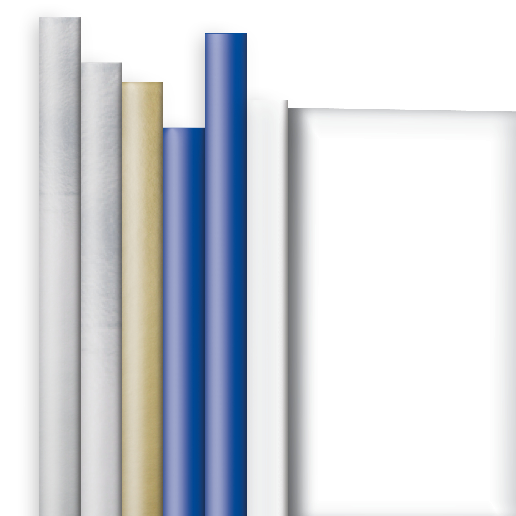 Jillson & Roberts Solid Color Matte Gift Wrap Roll Assortment, Hanukkah (6 Rolls)
