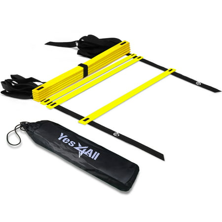 - Yes4All Speed and Agility Training Ladder with Carry Bag - 8 Rung (Yellow)
