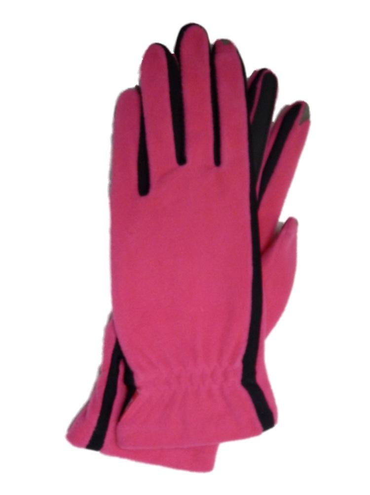 Isotoner Smart Touch  Womens Pink Fleece Unlined Smartouch Text & Tech Gloves