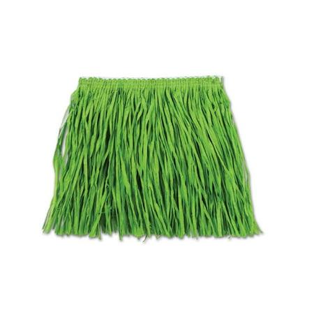Club Pack of 12 Bright Green Child Mini Hula Skirt 12