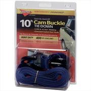 HAMPTON PROD 5110 10 Ft.  X 1 inch Cam Buckle Tie-Down With S-Hooks