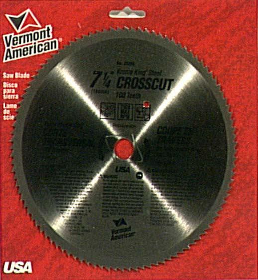 Vermont American 25290 Krome King Crosscut Circular Saw Blades