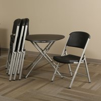 Lifetime Products 33 in. Round Personal Table and Chair Combo
