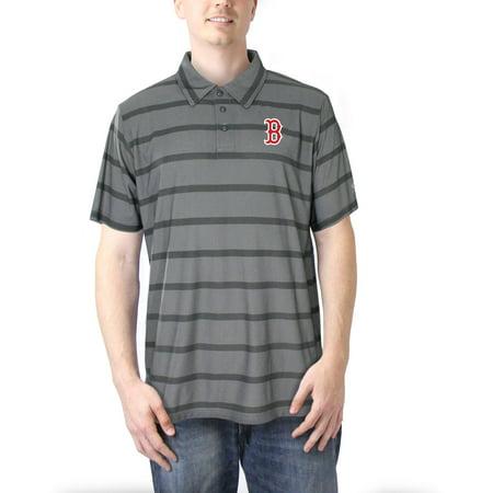 Boston Red Sox Men's Charcoal Yarn Dye Stripe Polo ()