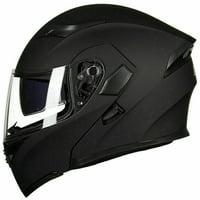 Cooligg Full Face Helmet Motorcycle Street Bike Helmet Dual Visor Flip up Modular DOT Approved