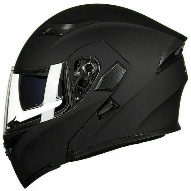 Motor Bluetooth Helmet Modular Flip Up Full Face Dual Visor Carbon Fiber Biker