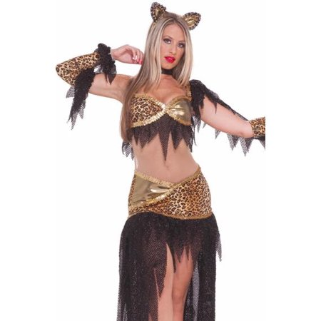 Forum Womens Sexy Leopard Ballroom Dancing Cat Outfit - Ballroom Costumes