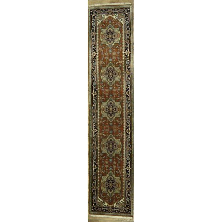 Rugsource 12 ft Long Indo Heriz Traditional Hand Made Oriental Rug Runner for Hallway(12' 0'' x 2' 7'') - Walmart.com