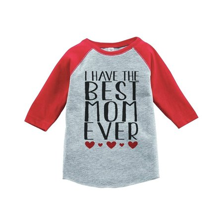 Custom Party Shop Boy's Mother's Day Vintage Baseball Tee - Red and Grey / 4T