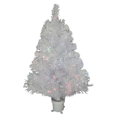 White Fiber Optic Christmas Trees