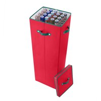 Elf Stor 40 Inch Tall Wrapping Paper Storage Box with Lid, Red