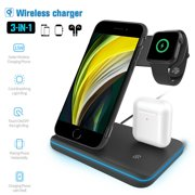 Wireless Charger 3 in 1 Fast Charging Station for Apple Watch Series 5/4/3/2, AirPods Pro/2, Magnetic Wireless Charging Stand 7.5W for iPhone 11/11 Pro Max/XS/XR/X/8