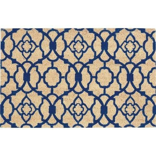"Waverly Greetings ""Lovely Lattice"" Navy Doormat by Nourison"