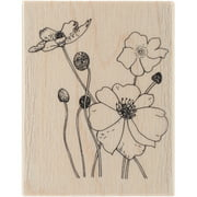 """Penny Black Rubber Stamp 2.25"""" x 2.75"""", Poppies"""