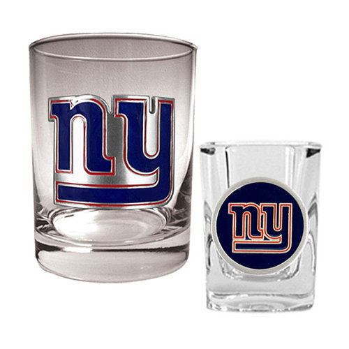 NFL - New York Giants Rocks Glass and Shot Glass Set
