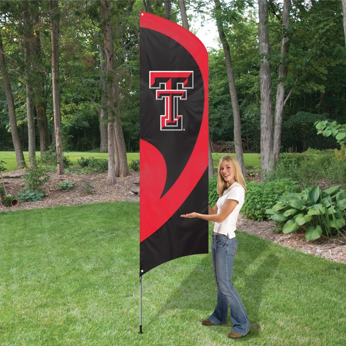 TEXAS TECH RED RAIDERS 8' TALL TAILGATE FLAG
