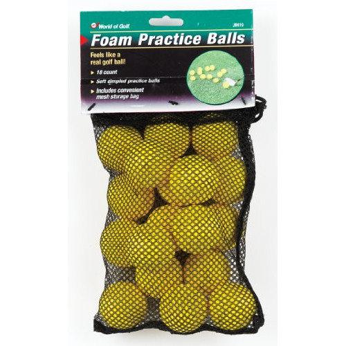 Golf Gifts & Gallery 18 Yellow Foam Balls In Mesh Bag