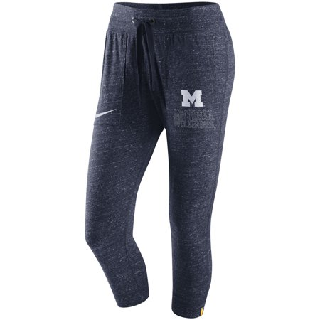 Michigan Wolverines Nike Women's Gym Vintage Capri Pants - Heathered Navy