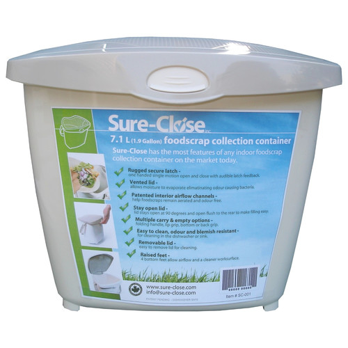 SureClose Kitchen Waste Food Scrap Pail