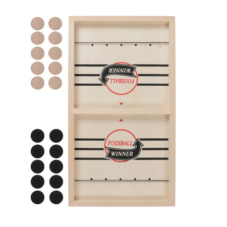 Funny Wooden Desktop Hockey Table Game for Kids and Adults, Winner Board Games Toys Table Desktop Battle 2 in 1 Ice Hockey Game for Family Party 35*22CM