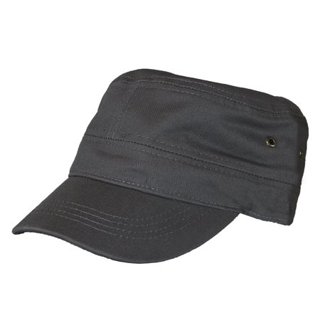 87f5e7206b9 Classic Plain Vintage Army Military Cadet Style Cotton Cap Hat Adjustable -  Walmart.com
