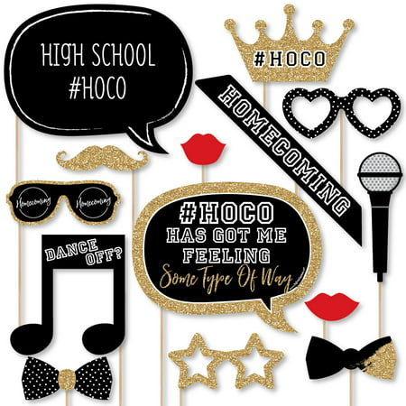HOCO Dance - Homecoming Photo Booth Props Kit - 20 - Homecoming Photo Ideas