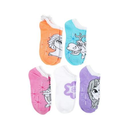 Frozen No Show Socks, 5 Pairs (Little Girls & Big Girls)](Frozen For Girls)