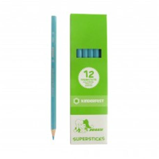 American Educational Supersticks Colored Pencil, Sky Blue Box of 12 by PaperPerfect