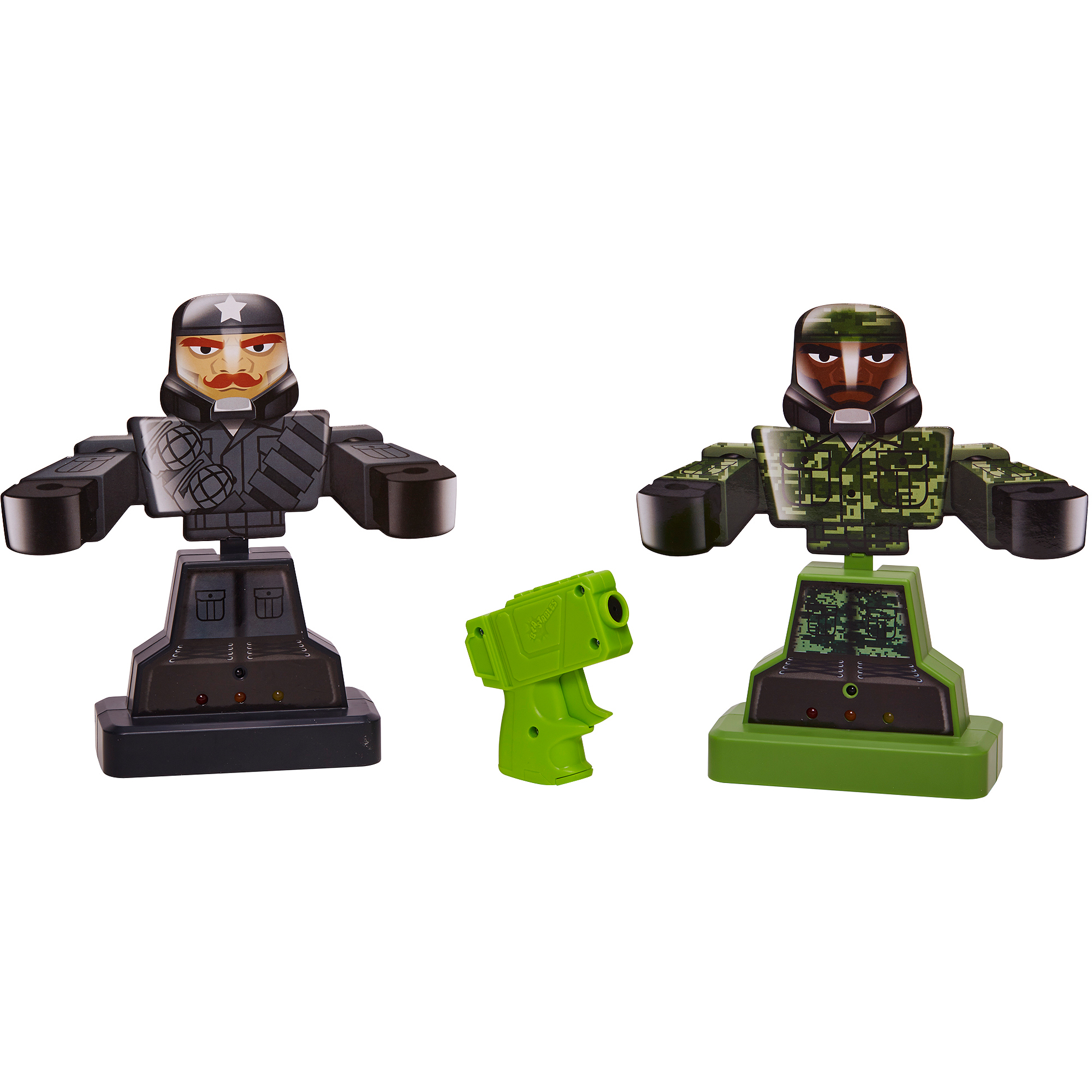 Blastables Rebounding Target Green and Black Military with Green Blaster
