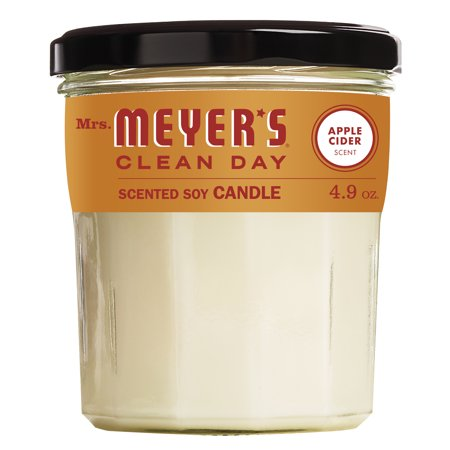 Mrs. Meyer's Clean Day Scented Soy Candle, Apple Cider Scent, 4.9 ounce candle 5 Ounce Poured Candle