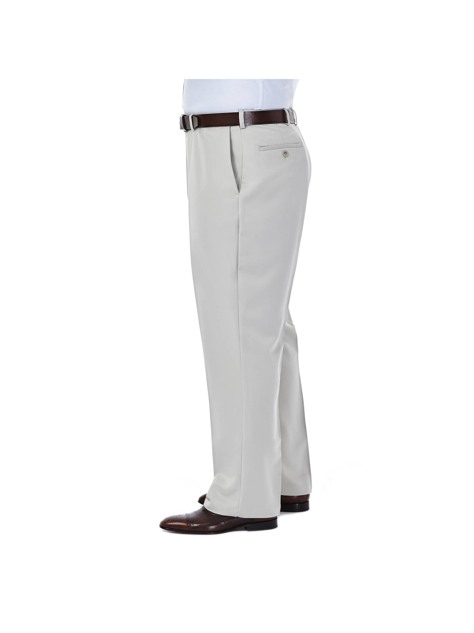 Haggar Men/'s Big /& Tall Cool 18® Solid Pleat Front Pant Classic Fit 41714529498