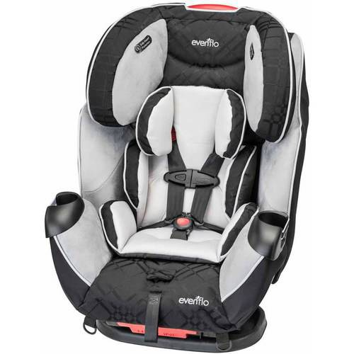 Evenflo Symphony LX All-in-1 Car Seat Convertible Car Seat, Crete Gray