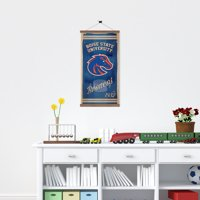 Boise State Broncos Watercolor Printed Canvas Banner - 15W x 26H x 1D