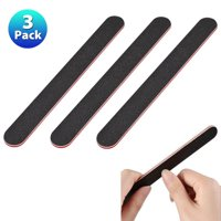 Zodaca 3 pcs Cushioned Beauty Salon Spa Sanding Nail Files Buffer Buffing Manicure Nailcare