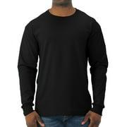Jerzees Men's and Big Men's Moisture Wicking Long Sleeve Crew T-Shirt
