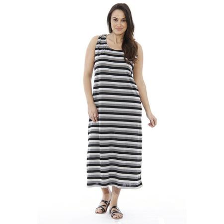 Just Love - Plus Size Summer Dresses / Maxi Dress (Black, 2X ...